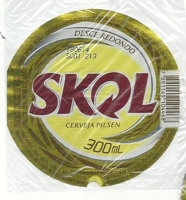Excepcional Embalagem de cerveja Skol Pilsen | 6844 | Supercolecao.com XK35